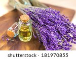 lavender oil for spa on a... | Shutterstock . vector #181970855