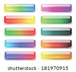set of colored buttons. vector... | Shutterstock .eps vector #181970915