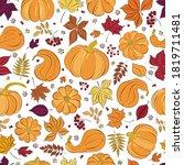 Seamless Patterns. Autumn Fall...