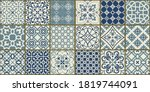 collection of 18 ceramic tiles... | Shutterstock .eps vector #1819744091