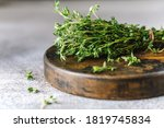 Close Up View Of Thyme Bunch....