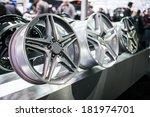 alloy wheel rims. | Shutterstock . vector #181974701