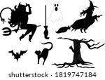 Ilustration Halloween  Black...
