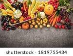 harvested autumn harvest on a... | Shutterstock . vector #1819755434