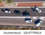 Police Roadblock On A Highway ...