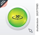 angle 30 degrees sign icon....