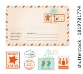 vector christmas invitation old ... | Shutterstock .eps vector #1819781774