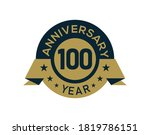 gold 100 years anniversary...   Shutterstock .eps vector #1819786151