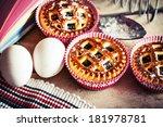 fresh muffins  tasty cupcake...   Shutterstock . vector #181978781