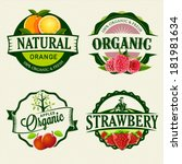 set of fresh   organic labels | Shutterstock .eps vector #181981634