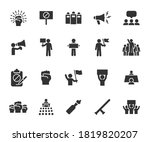 vector set of protest flat... | Shutterstock .eps vector #1819820207