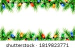 christmas border with fir... | Shutterstock .eps vector #1819823771