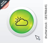 cloud and sun sign icon....