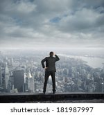 businessman looking for the... | Shutterstock . vector #181987997