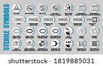 full vector set of sterilized... | Shutterstock .eps vector #1819885031