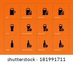 beer and alcohol glasses icons...