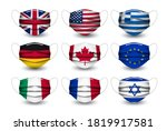 collection of medical face... | Shutterstock .eps vector #1819917581