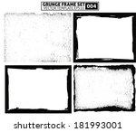 grunge frame set. vector... | Shutterstock .eps vector #181993001