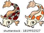 gold line koi fish vector for... | Shutterstock .eps vector #1819932527