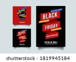 black friday social media and...   Shutterstock .eps vector #1819945184