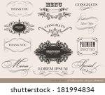 calligraphic design elements | Shutterstock . vector #181994834