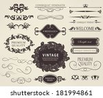 calligraphic design elements ... | Shutterstock . vector #181994861