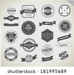 premium quality  guarantee and... | Shutterstock . vector #181995689