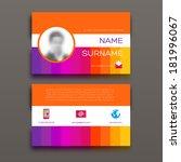 business card template. flat...