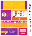 flat design interface elements...