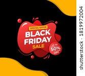 black friday sale banner...   Shutterstock .eps vector #1819972004