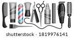 vector set for hair salon and...   Shutterstock .eps vector #1819976141