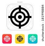 crosshair icon. | Shutterstock . vector #181998884