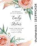 wedding invite  invitation card ...   Shutterstock .eps vector #1819992434