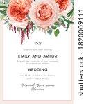 wedding invite card  invitation.... | Shutterstock .eps vector #1820009111