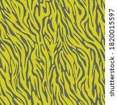 vector zebra skin seamless... | Shutterstock .eps vector #1820015597