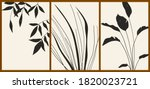 a set of three abstract... | Shutterstock .eps vector #1820023721