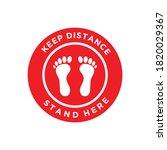 footprint floor sticker ...   Shutterstock .eps vector #1820029367