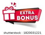 red extra bonus label. bright... | Shutterstock .eps vector #1820031221