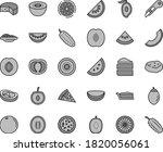 thin line gray tint vector icon ... | Shutterstock .eps vector #1820056061