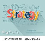business strategy concept  with ... | Shutterstock .eps vector #182010161