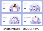 technical support web banner or ... | Shutterstock .eps vector #1820114597