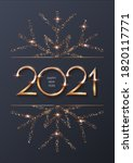 happy new year 2021 background... | Shutterstock .eps vector #1820117771