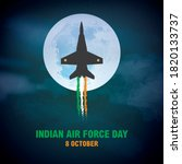 Indian Air Force Day  Concept...