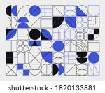 abstract linear geometric... | Shutterstock .eps vector #1820133881