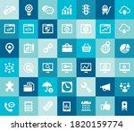 trendy flat design big seo... | Shutterstock .eps vector #1820159774