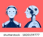 chatbot robot vector... | Shutterstock .eps vector #1820159777
