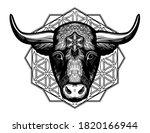 ornatetaurus zodiac star sign...   Shutterstock .eps vector #1820166944