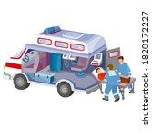 interior of an ambulance... | Shutterstock .eps vector #1820172227