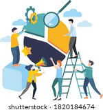 vector illustration. flat... | Shutterstock .eps vector #1820184674