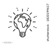 lightbulb globe concept icon ... | Shutterstock .eps vector #1820199617